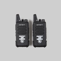 CARHARTT WIP PROTECT SURVIVE WALKIE TALKIE BLACK