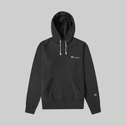 CHAMPION REVERSE WEAVE HOOD SMALL SCRIPT BLACK