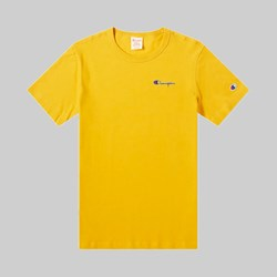 CHAMPION REVERSE WEAVE SMALL SCRIPT SS T-SHIRT OLD GOLD