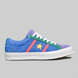 CONVERSE ONE STAR ACADEMY OX TOTALLY BLUE RACER PINK