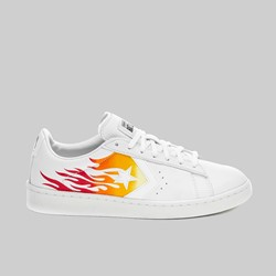 CONVERSE PRO LEATHER OX WHITE BOLD MANDARIN