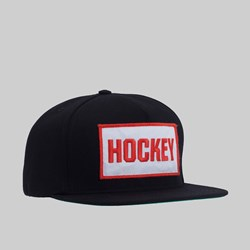 HOCKEY PATCH 5 PANEL SNAPBACK BLACK