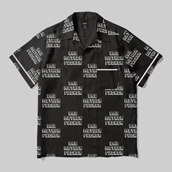 HUF X PULP FICTION BAD MUTHA FUCKER SHIRT BLACK