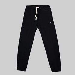 CHAMPION REVERSE WEAVE ELASTIC CUFF PANTS BLACK