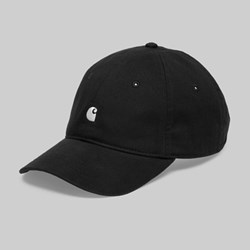 CARHARTT MADISON LOGO CAP BLACK WHITE