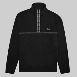 HUF MIDTOWN QUARTER ZIP FLEECE BLACK