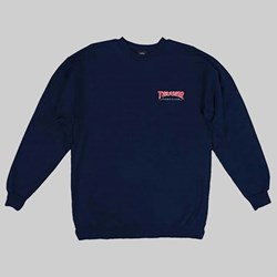 THRASHER OUTLINED CREW SWEAT NAVY