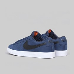 NIKE SB BLAZER LOW GT ISO 'ORANGE LABEL' MIDNIGHT NAVY