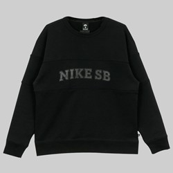 NIKE SB NK SB HBR CREW NECK SWEAT BLACK BLACK