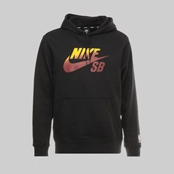 NIKE SB X NBA ICON PO HOODIE BLACK TEAM RED