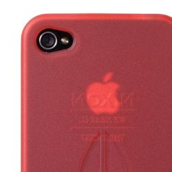 Nixon Clear Jacket iPhone 4 Case Red