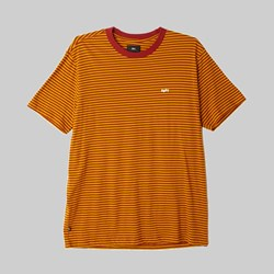 OBEY APEX STRIPE LS T-SHIRT BRICK RED MULTI