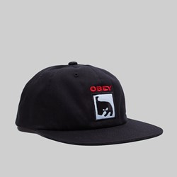 OBEY CHAMPION SNAPBACK CAP BLACK