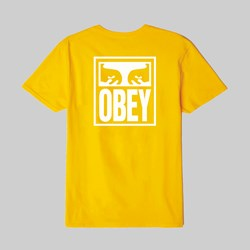 OBEY EYES ICON SS T-SHIRT GOLD
