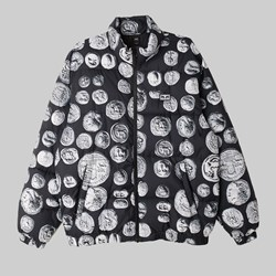 OBEY THE LOOT PUFFER JACKET COINS BLACK