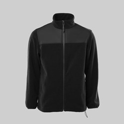 RAINS FLEECE ZIP PULLER JACKET BLACK