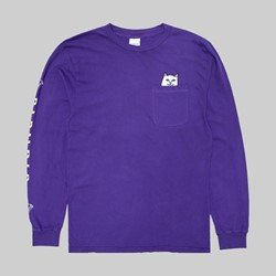RIP N DIP LORD NERMAL POCKET LONG SLEEVE TEE PURPLE