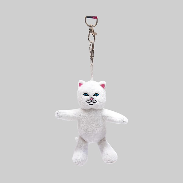 RIP N DIP LORD NERMAL PLUSH KEYCHAIN WHITE