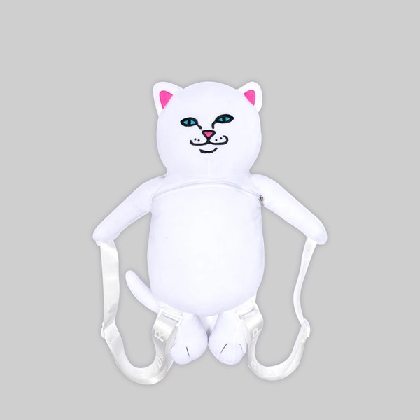 RIP N DIP LORD NERM PLUSH BACKPACK WHITE