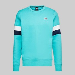 NIKE SB ICON CREW FLEECE CABANA WHITE OBSIDIAN