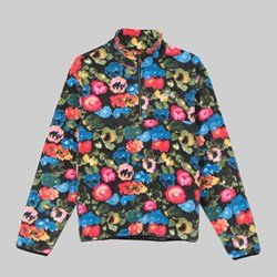 STUSSY POLAR FLEECE MOCK FLORAL