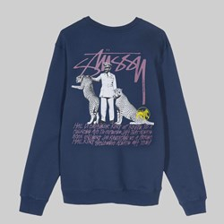 STUSSY EMPEROR CREW NECK SWEAT NAVY