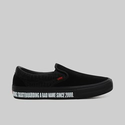 VANS X BAKER SKATEBOARDS SLIP ON BLACK BLACK RED