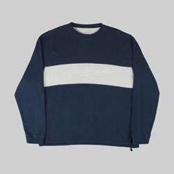 YARDSALE EMBOSSED FLEECE CREWNECK NAVY